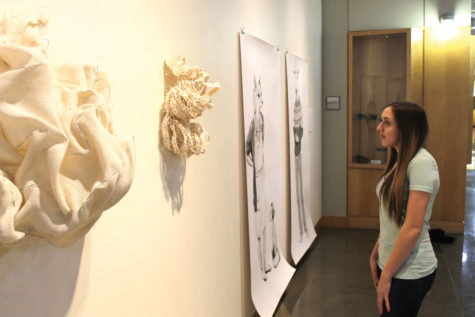 Senior art exhibition on display