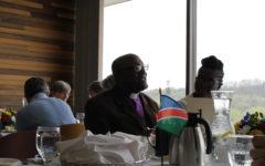 Namibian bishop visits campus