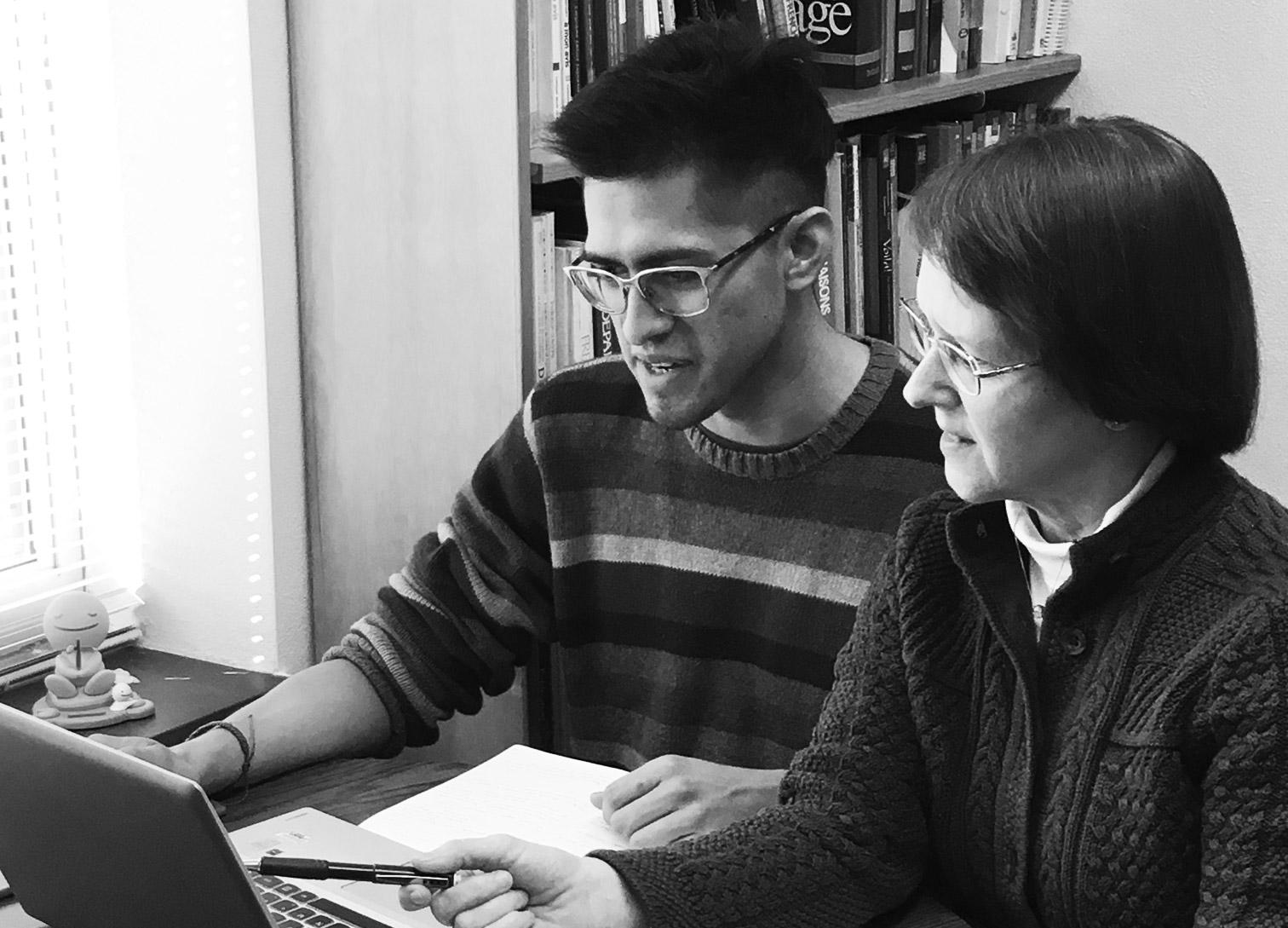 Pablo Lopez Alonso ('17) and Laurie Zaring collaborate on language revival.