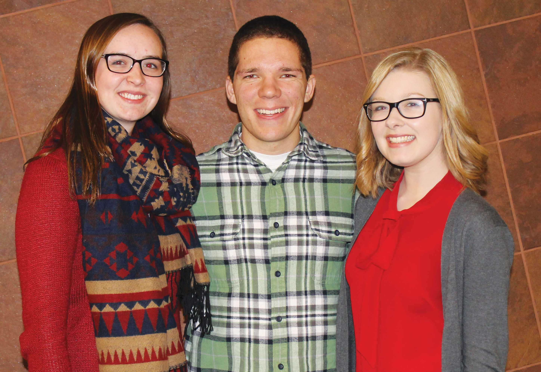 Emily Osborne ('18), Alex Carpenter ('18) and Emily Green (18)
