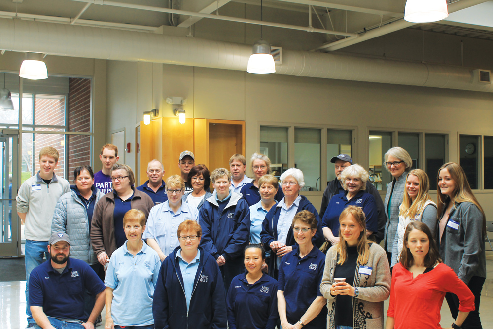 Students%2C+Custodians%2C+and+President+Paula+Carlson+attend+Custodian+Appreciation+Day.