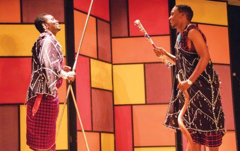 Maasai tribe  members celebrate Tanzanian culture