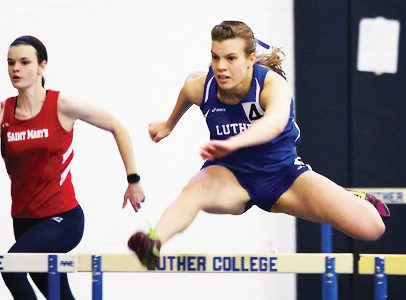 Track and Field teams compete in Indoor Championship