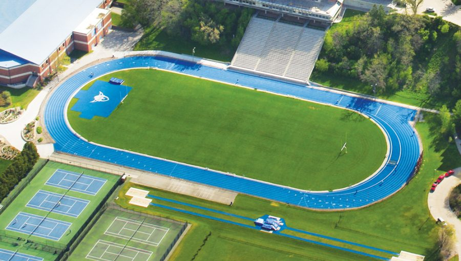 artificial football turf. An+aerial+shot+of+the+current+Luther+football+ Artificial Football Turf