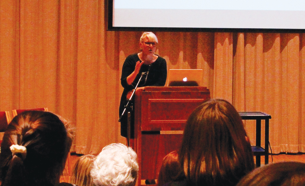 Rachel Peterson ('04) gives the annual Knut Gjerset lecture.