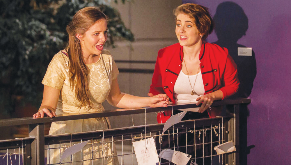 Gillian Constable ('17) performs alongside Eva Gemlo ('17).