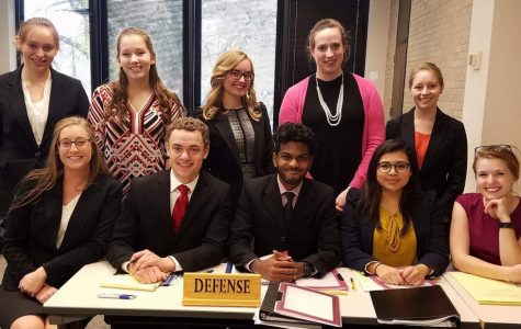 Mock trial travels to Hamline, competes in regional tournament