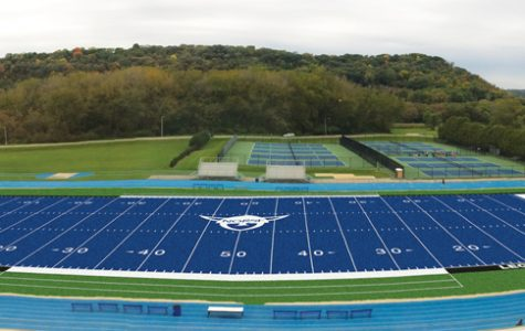 Community voices opinions in response to artificial blue turf field