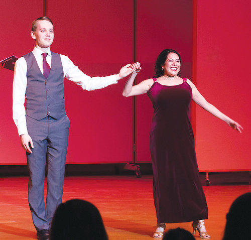 Joshua Weisenburger ('17) and Associate Professor of Music Joan de Alburquerque won this year's Dancing with the Luther Stars.