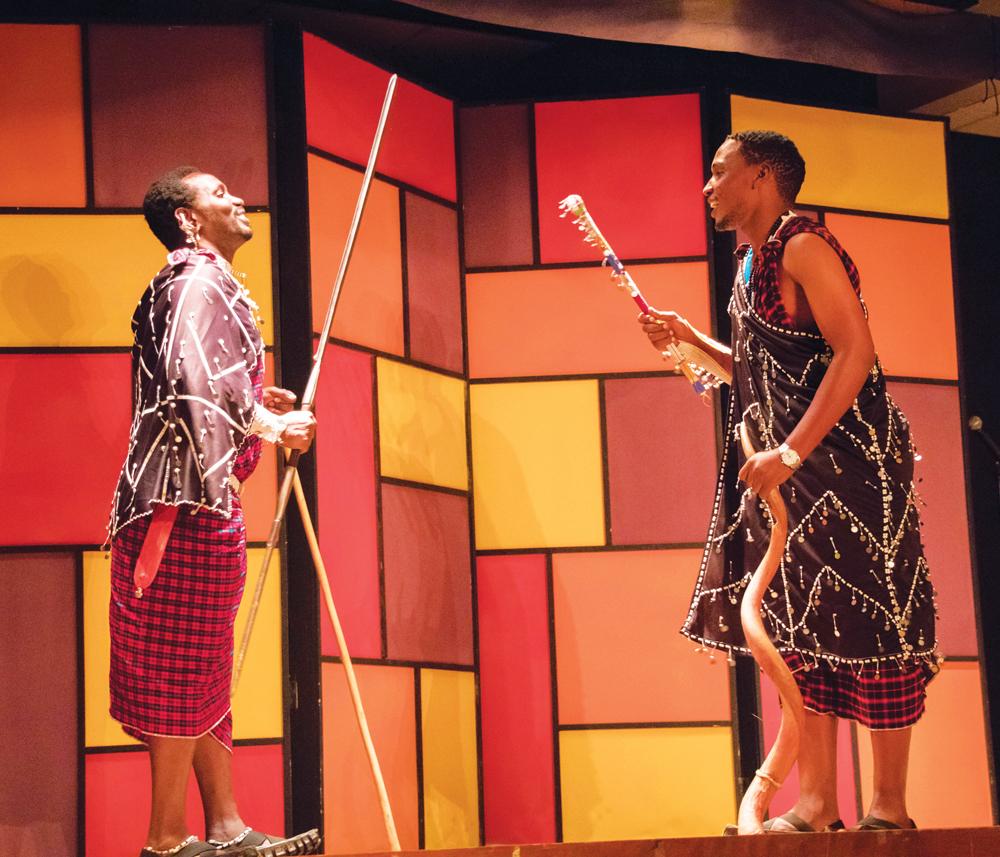 Leboy+Oltimbau+and+Musa+Kamaika+play+Tanzanian+musical+instruments.