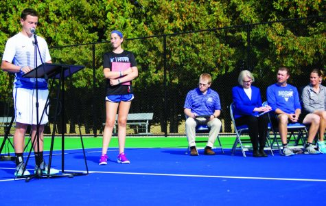 Alumni Meet held on new courts following dedication