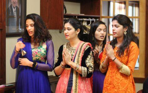 Students celebrate  Diwali