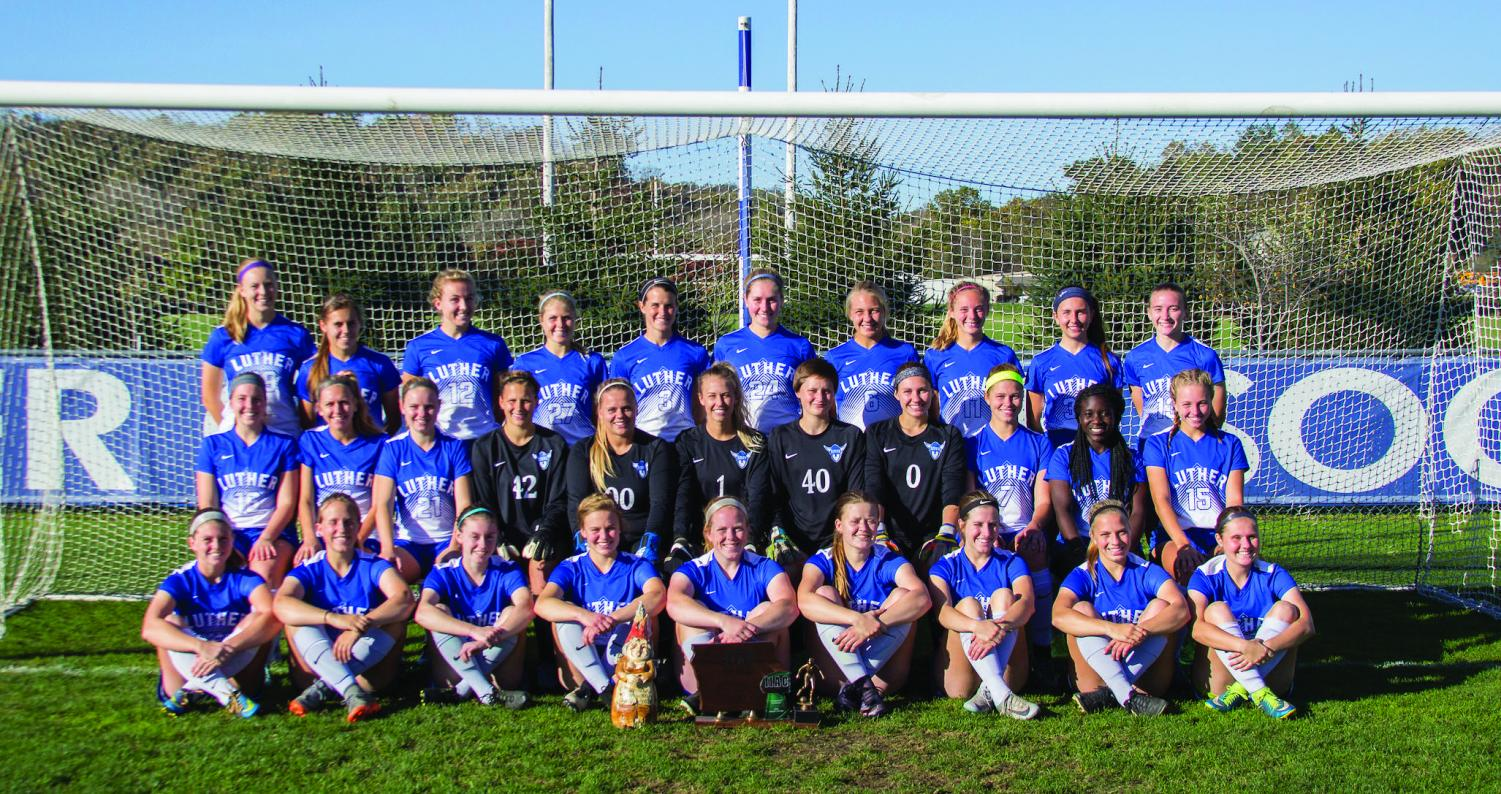 The Luther Women's Soccer Team, sixth in the IIAC and second in Conference Tournament.