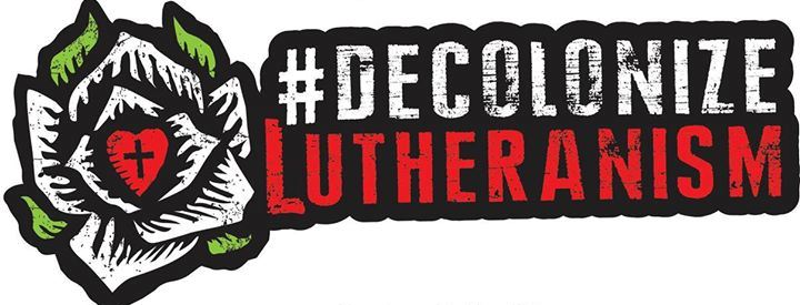Logo of the Decolonize Lutheranism movement.