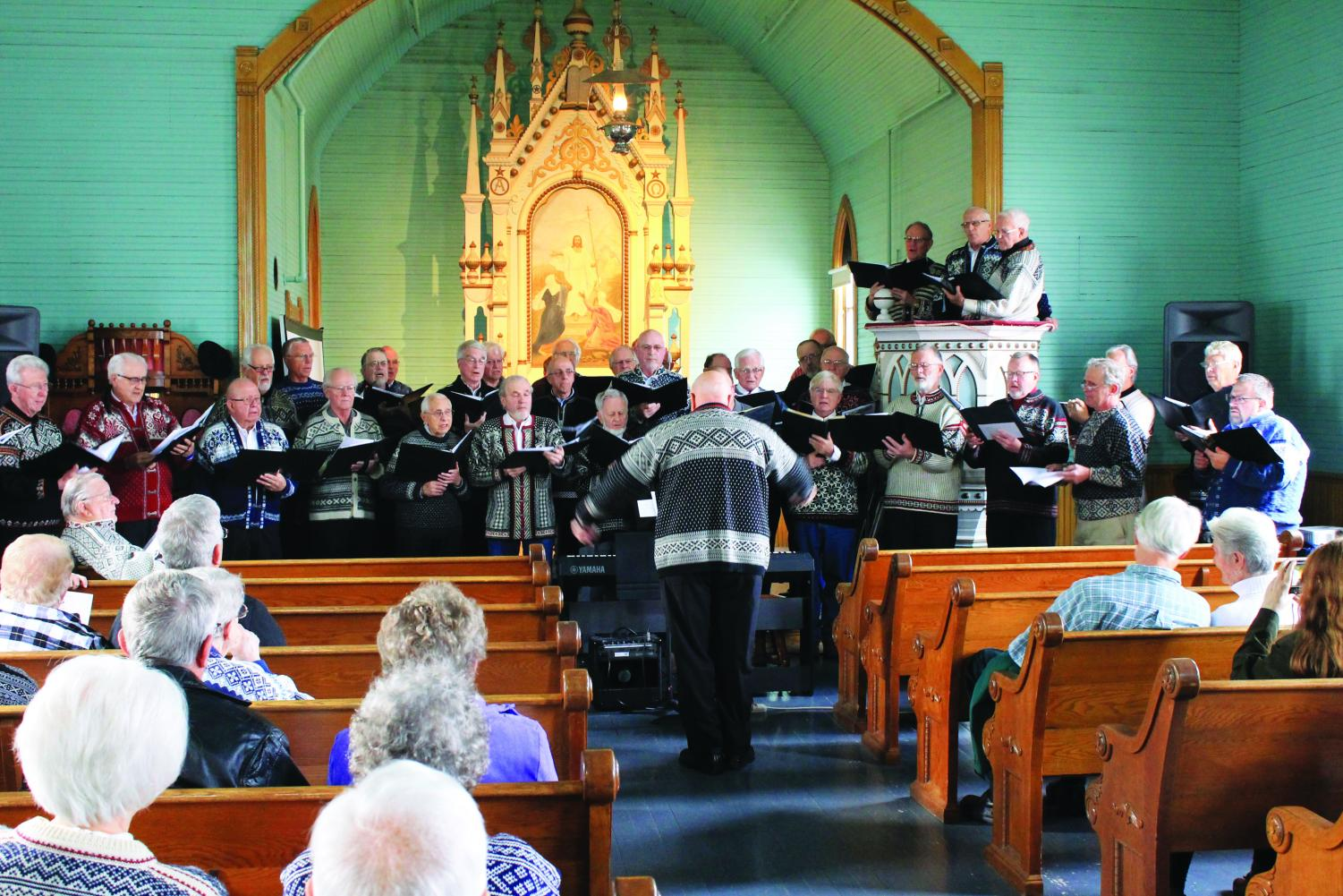 Luren Singing Society performs in the Bethania sanctuary downtown.