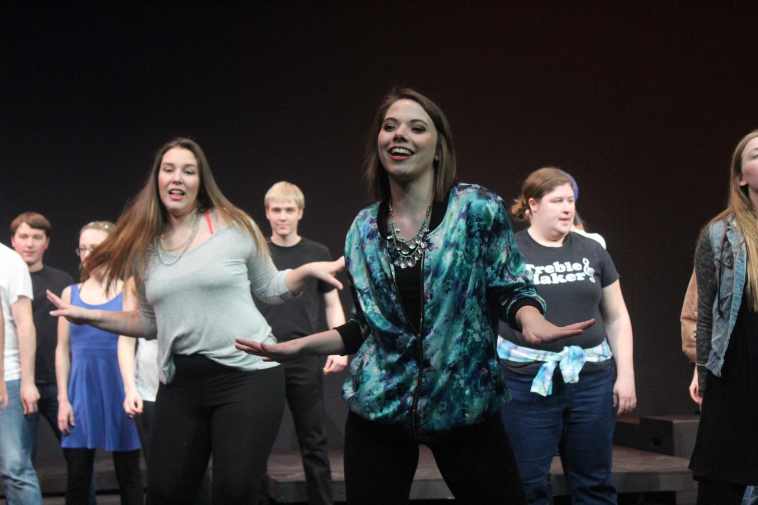 "Tess Tyler, played by Grace Huber ('20), features in ""Camp Rock"" with a  song called ""Start the Party."""