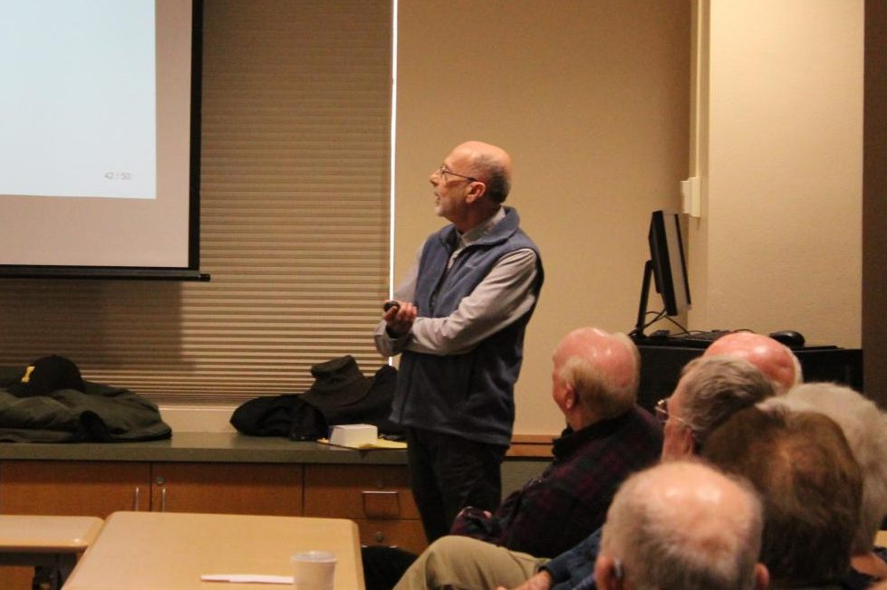 Lyle Luzum ('70) gave the Emeriti Colloquium Series lecture.