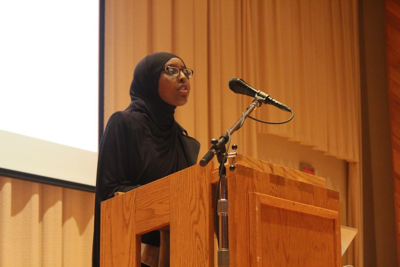Asha Aden ('20) demonstrates the power of storytelling.