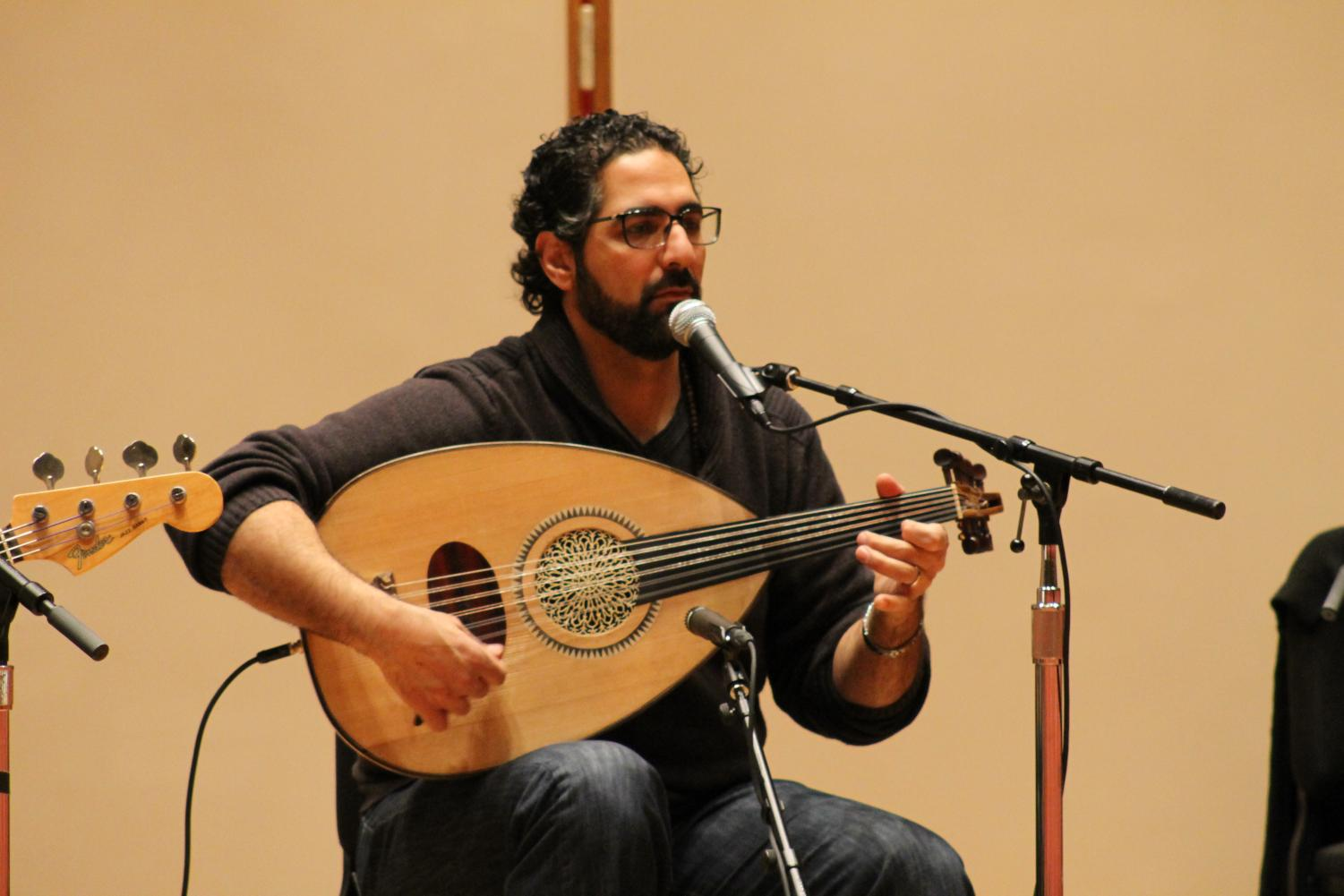 Ronnie Malley plays the oud and is the primary vocalist for Lamajamal.