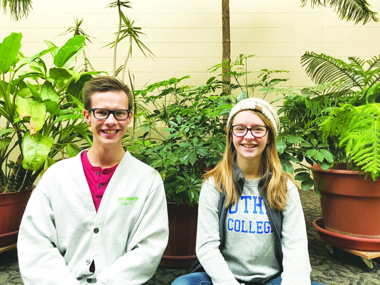 Eliot Douma ('19) and Michaela Gyure ('19) both participate in WILD at the Decorah Lutheran Church.