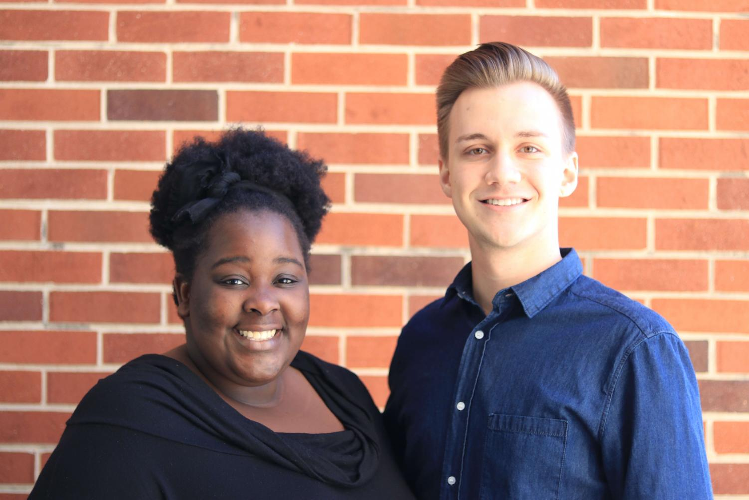 Elected President and Vice President of Student Senate Janet Irankunda ('19) and Wyatt Anians ('19).