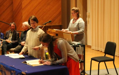 Seniors inducted to Phi Beta Kappa