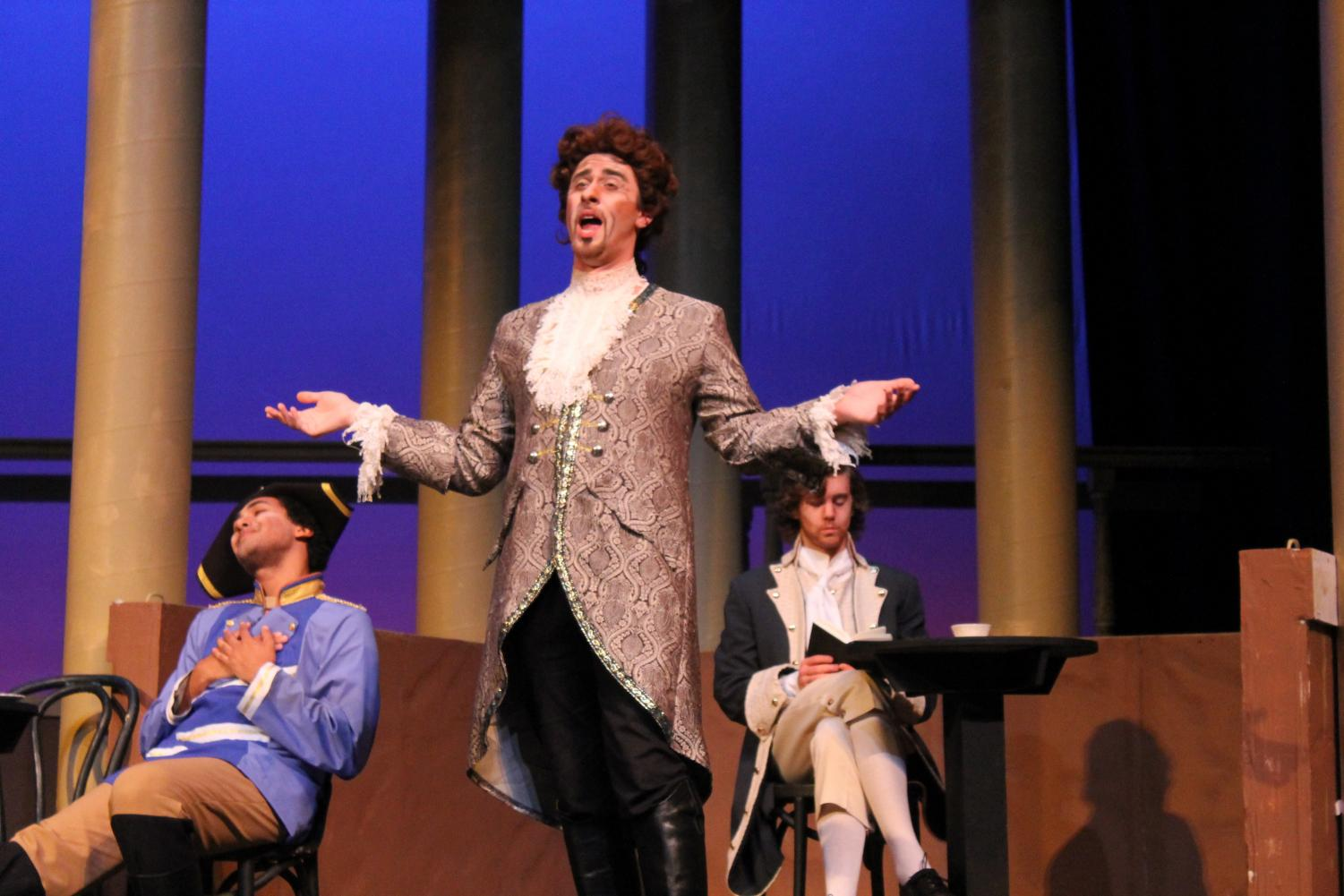 "Mitch Gage ('19) performs as Don Alfonso in both performances of ""Così Fan Tutte."""