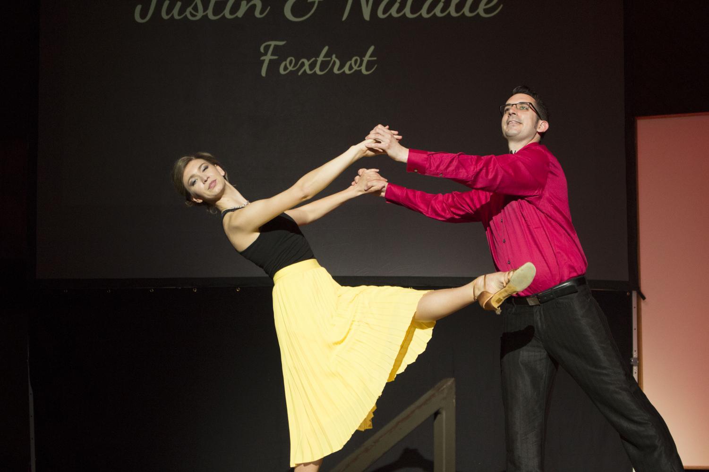 Natalie Wade ('18) and Catering Director Justin Scardina ('04).