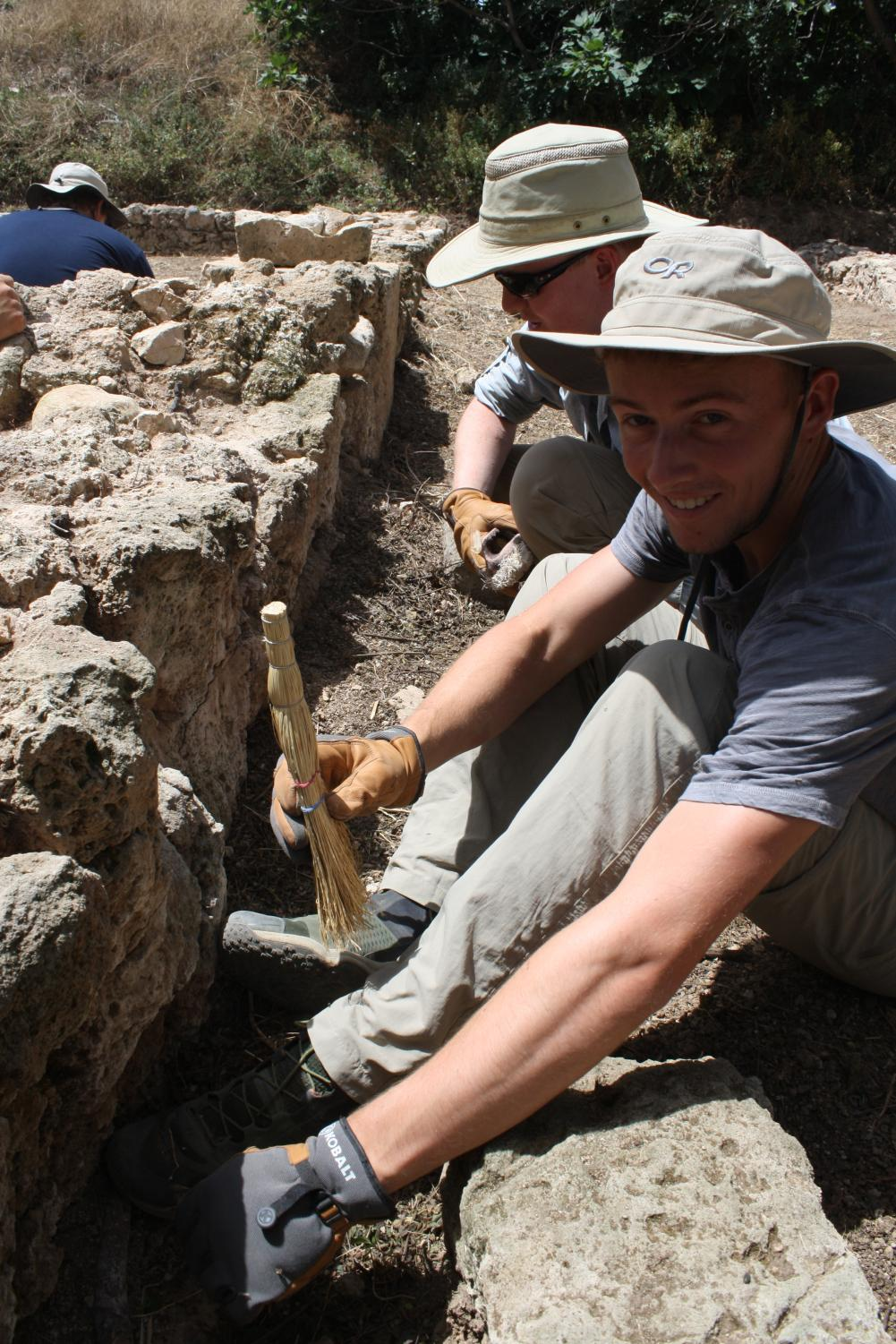 Chad Villhauer ('18) at an excavation in Greece.
