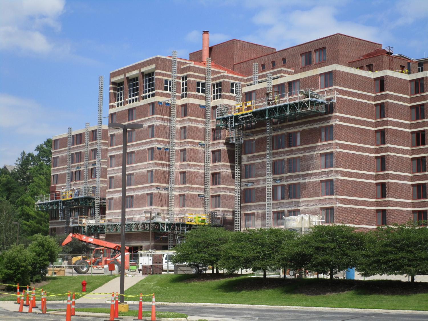 Farwell Hall and Larsen Hall faced moisture problems that required maintenance.