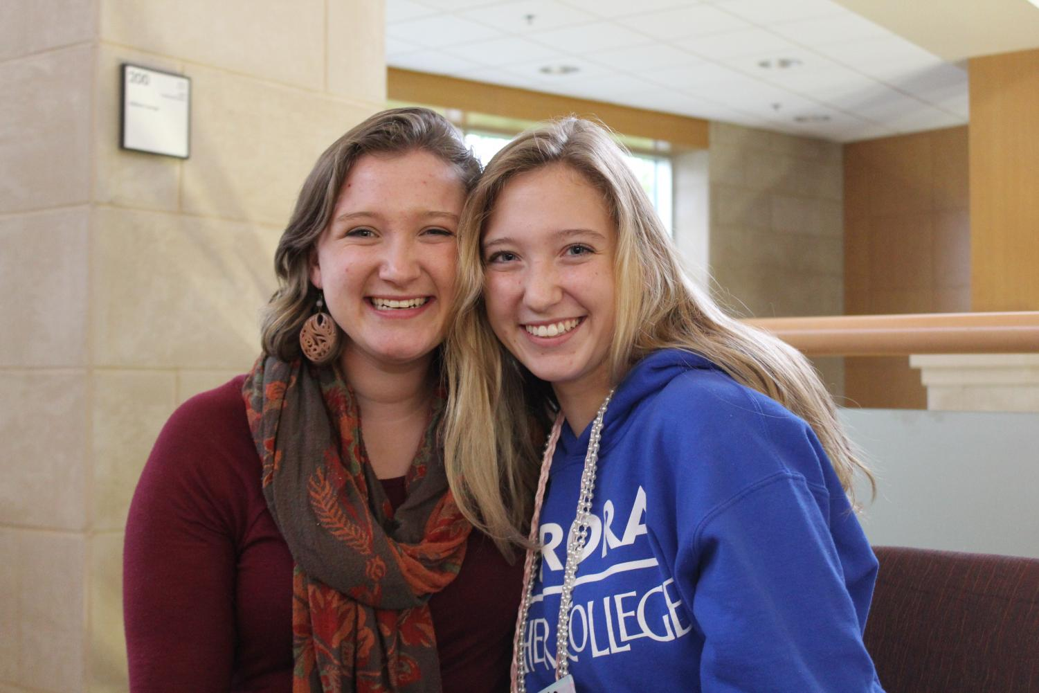 Katy Roets ('18) and Helen Roets ('21) followed both of their parents to Luther.