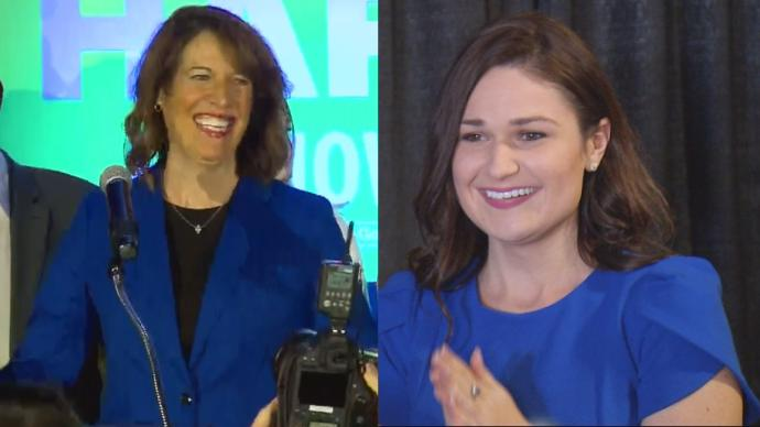 Cindy+Axne+%5BLEFT%5D+and+Abby+Finkenauer+%5BRIGHT%5D+were+the+first+female+candidates+in+Iowa%27s+history+to+be+elected+to+the+US+House+of+Representatives.+