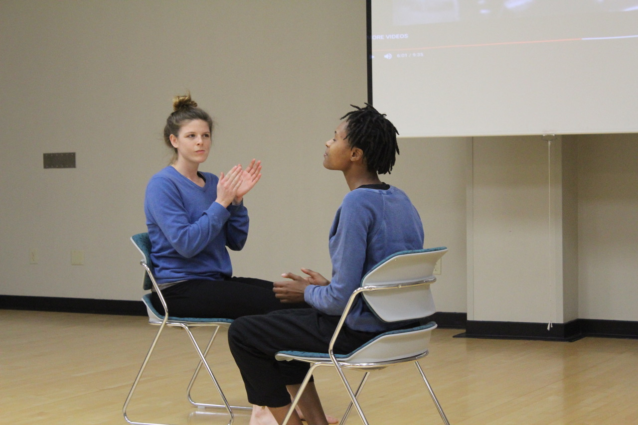 Colleen Oster ('14) and Christie Owens ('16) choreographed their duet, which was based heavily on Owens's personal experiences as a Black woman.