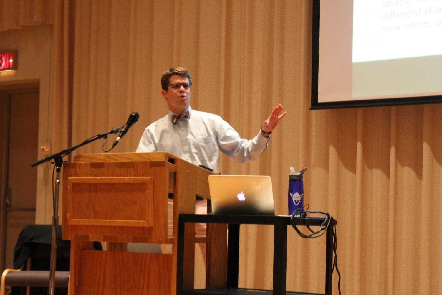 Visiting Assistant Professor of Religion James Hoke spoke on queerness and how it relates to