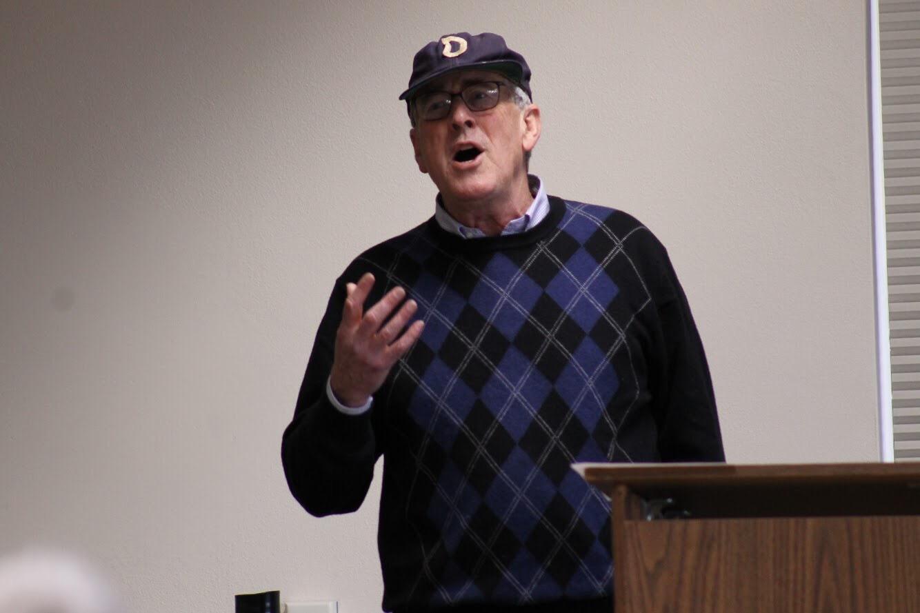 Emeritus Professor of Political Science John Moeller presented the 30th Emeriti Lecture Thursday, Nov. 8.