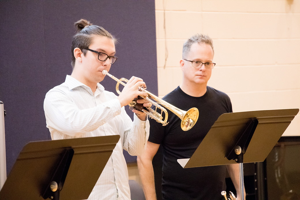 Michael Winkler ('19) participates in a master class.