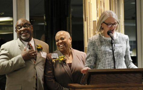 Greg ('77) and Vickie Fields receive the  Spirit of Luther Award