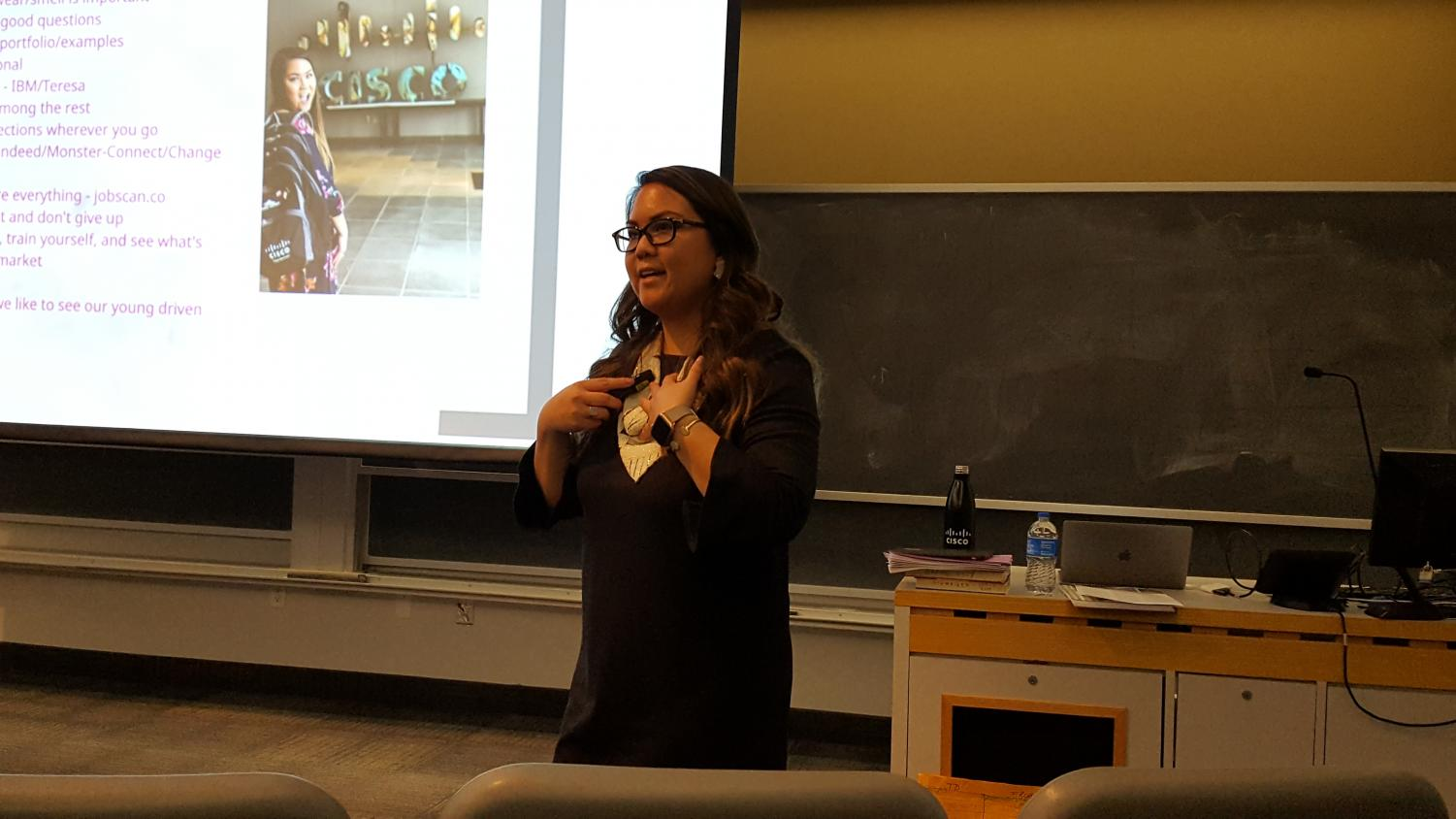 Shark Tank alum and digital channel manager Sharon Bui delivered a talk on business strategies on Feb. 11.