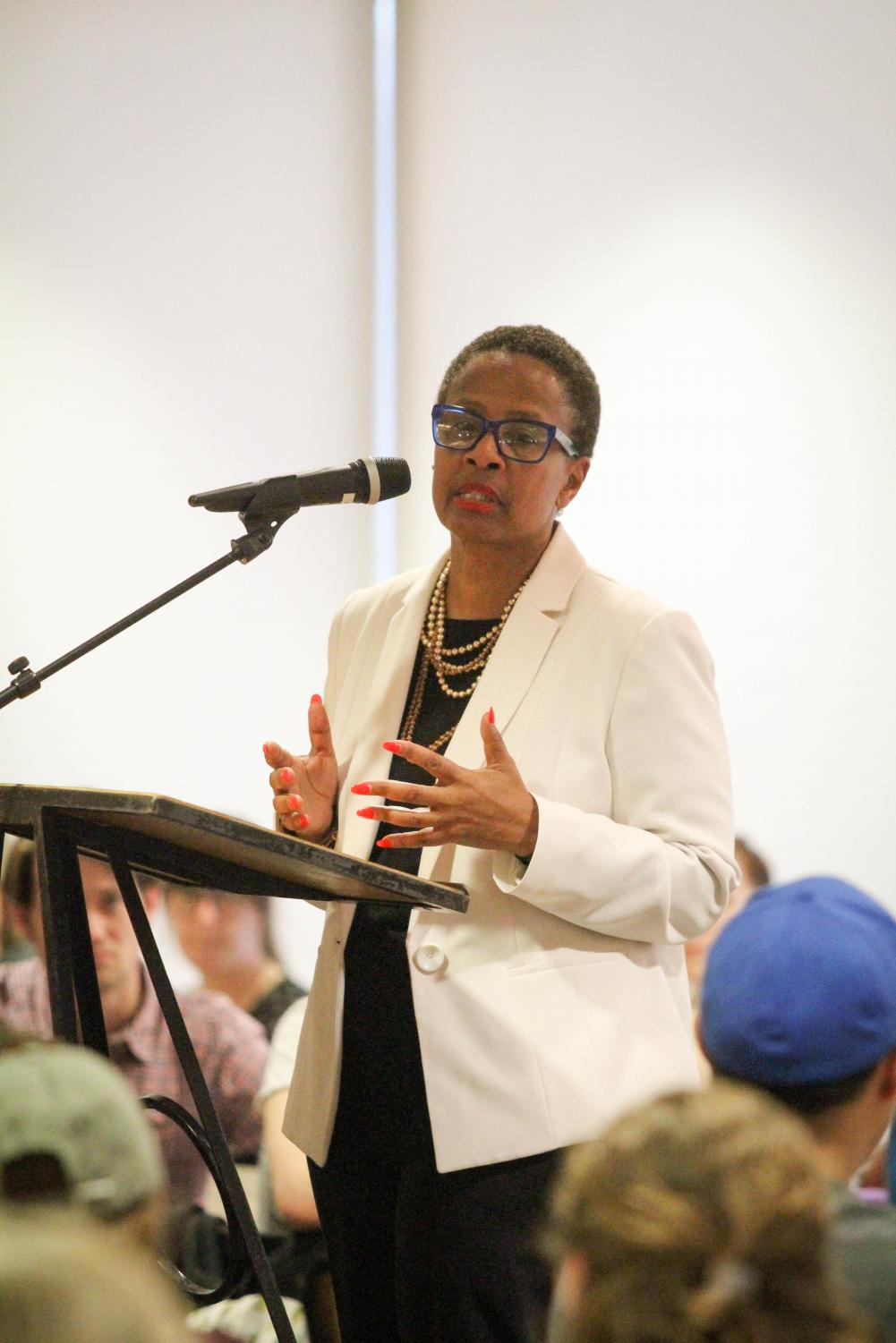 Interim Dean for Institutional Equity and Inclusion Lisa Scott helped organize the community response to various hate incidents last year.