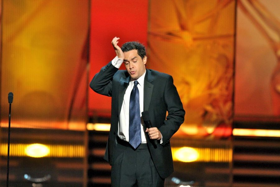 Comedian+Eric+O%E2%80%99Shea+introduced+the+category+of+Most+Outstanding+Commercial+at+the+2009+Emmy+Awards.+