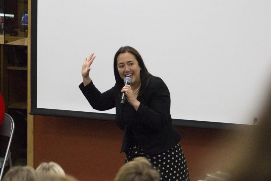 Erin+Gruwell+is+a+former+teacher+and+educational+activist+who+participated+in+a+narrative-style+lecture+and+book+signing.