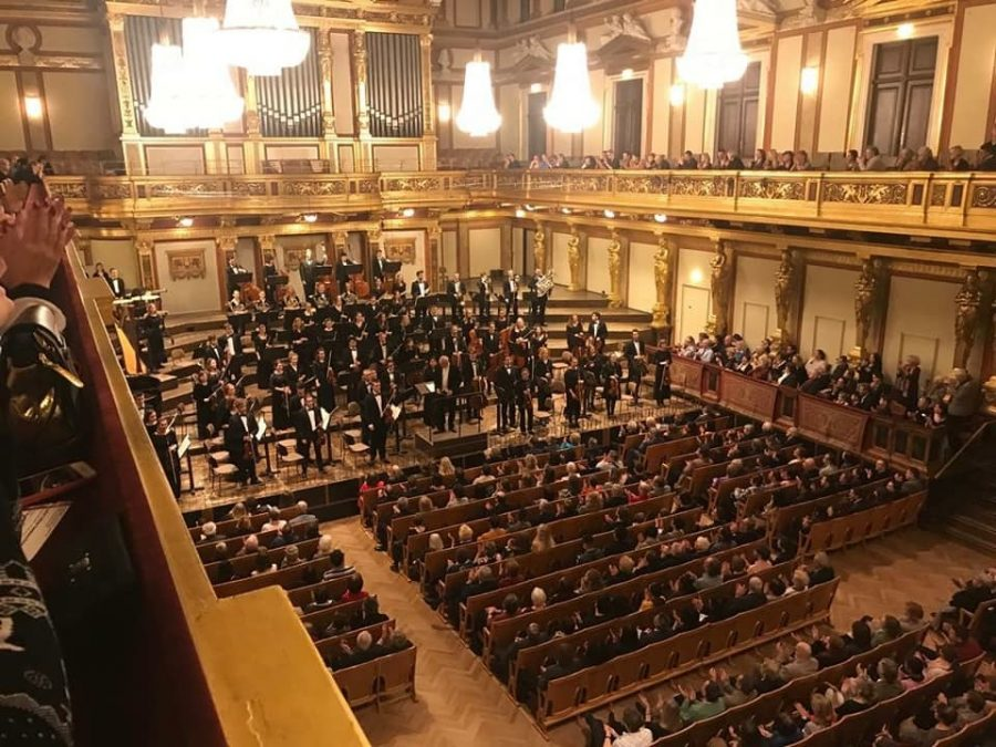 The+Luther+College+Symphony+Orchestra+performed+in+the+world-famous+Musikverein+concert+hall+on+Feb.+2.