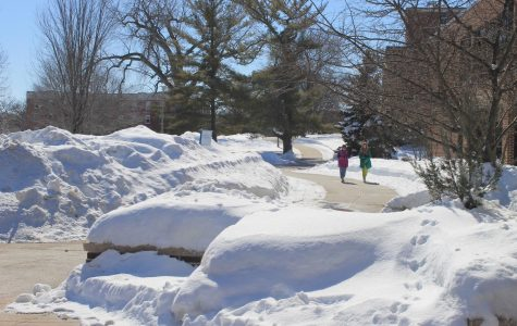 Campus  sidewalks have been continuously cleared by facilities