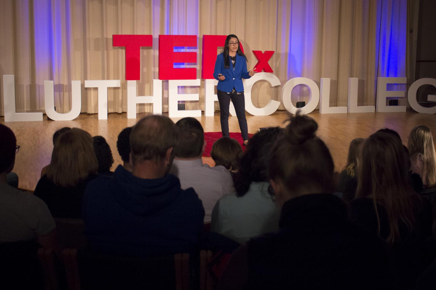 Anila Bano ('20) delivers her TEDx talk on the effects of climate change in Northern Pakistan
