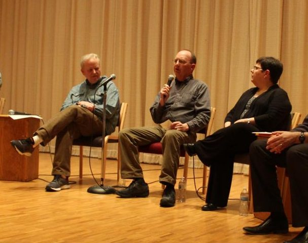 Associate Professor of Psychology Stephanie Travers, Courier Erik Berg ('77), and Counselor Stu Johnston were part of a panel that shared stories of past failures.