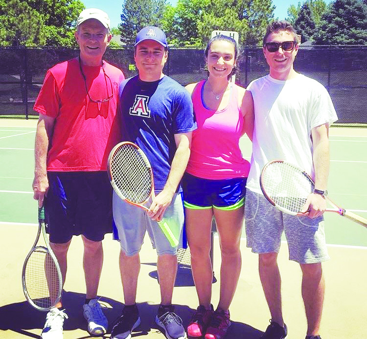 Hailey+Johnson+%28%E2%80%9816%29+enjoys+playing+tennis+with+her+father%2C+Craig+Johnson%2C+and+two+older+brothers%2C+Erik+and+Dan+Johnson.+