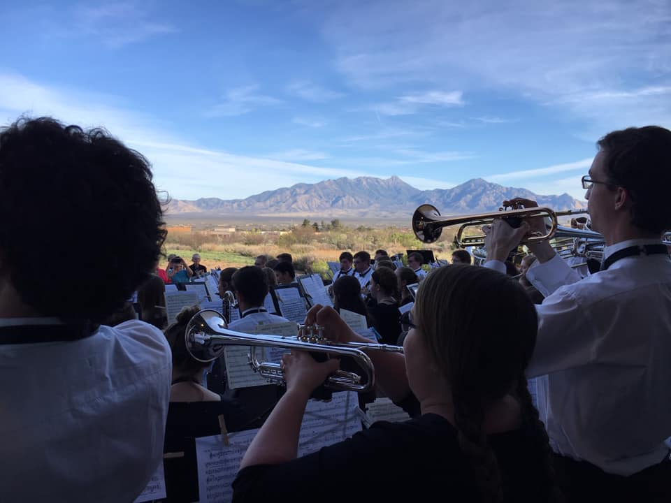 The Luther College Concert Band performed at an outdoor venue in Green Valley, Arizona on March 25 as a part of their spring tour.