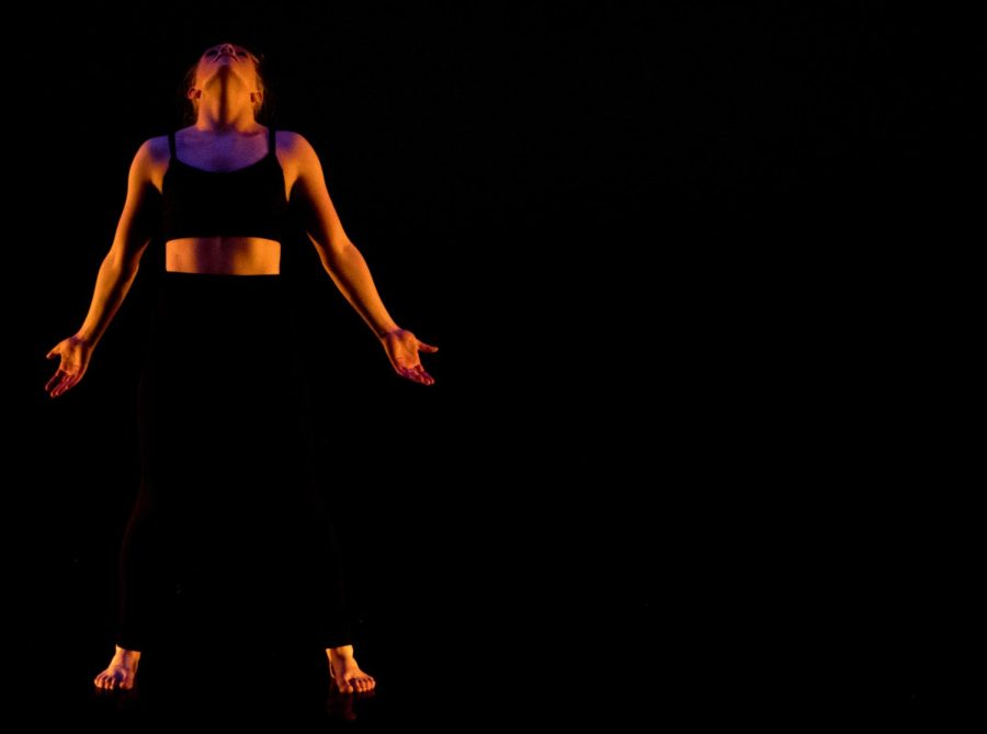 Haley+Steffen+%28%E2%80%9819%29+performed+a+solo+to+a+spoken-word+recording+of+her+favorite+dance+quotes+on+Saturday%2C+April+27+and+Sunday%2C+April+28.