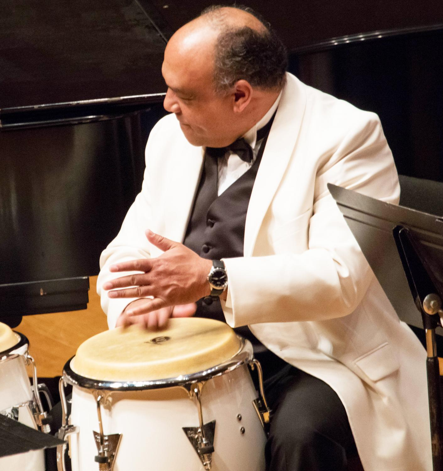 Professor of Music Juan Tony Guzmán has been with the jazz department at Luther for 24 years.
