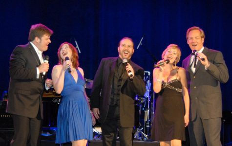 The cast of 101 Years of Broadway perform select hits from Broadway musicals in the Center for Faith and Life Main Hall on Feb. 14.